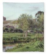 Dorchester Abbey, Near Wallingford, Autumn Evening Fleece Blanket