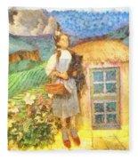 Dorothy And Toto  Fleece Blanket