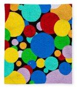 Dot Graffiti Fleece Blanket