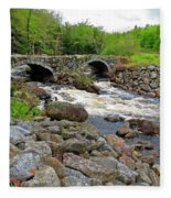 Double Arch Bridge Fleece Blanket