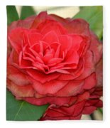 Double Blossom Camelias Fleece Blanket