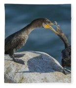 Double-crested Cormorants Fleece Blanket