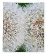 Double Dandelion Wishes Fleece Blanket