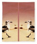 Double Gulls Collage Fleece Blanket