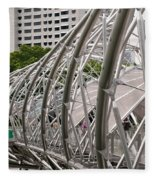 Double Helix Bridge 01 Fleece Blanket