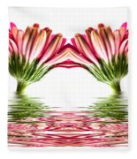 Double Pink Gerbera Flood Fleece Blanket