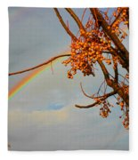 Double Rainbow Fleece Blanket