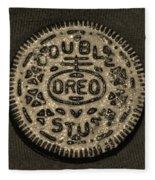 Double Stuff Oreo In Sepia Negitive Fleece Blanket