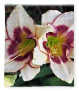 Double The Bloom Fleece Blanket