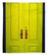 Double Yellow Doors Fleece Blanket