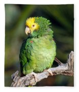 Double Yellow Headed Parrot Fleece Blanket