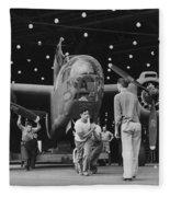 Douglas A20 Bomber Fleece Blanket