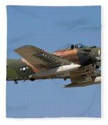 Douglas Ad-4 Skyraider Fleece Blanket