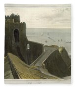 Dover Castle, From A Voyage Around Fleece Blanket