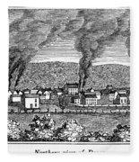 Dover, New Jersey, 1844 Fleece Blanket