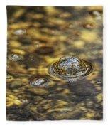 Down By The Bubbling Spring Fleece Blanket