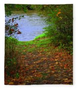 Down By The River Fleece Blanket