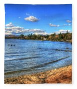 Lake District In Great Britain Fleece Blanket