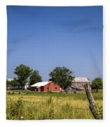 Down Home Amish Farm Fleece Blanket