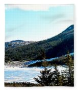 Down In The Valley Triptych Fleece Blanket