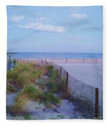 Down The Shore At Belmar Nj Fleece Blanket