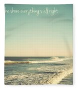 Down The Shore Seaside Heights Vintage Quote Fleece Blanket