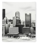 Cold Winter Day In Pittsburgh Pennsylvania Fleece Blanket