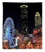 Downtown Atlanta Fleece Blanket