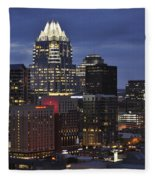 Downtown Austin 3 Fleece Blanket