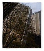 Downtown Autumn Fleece Blanket