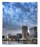 Downtown Baltimore Fleece Blanket