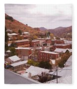 Downtown Bisbee Fleece Blanket