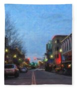 Downtown Boise Fleece Blanket