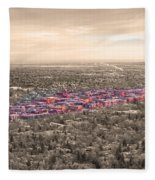 Boulder Colorado  Twenty-five Square Miles Surrounded By Reality Fleece Blanket