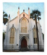 Downtown Charleston Church Fleece Blanket