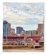 Downtown Cincinnati 9885 Fleece Blanket