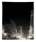 Downtown Dallas 1942 Fleece Blanket