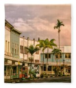 Downtown Hilo Sunday Morning Fleece Blanket