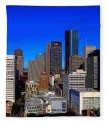 Downtown Houston Painted Fleece Blanket