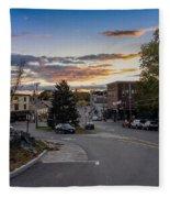 Downtown Ipswich Sunset Fleece Blanket