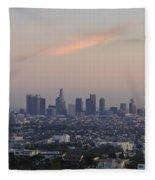 Downtown Los Angeles Fleece Blanket