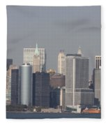 Downtown Manhattan Shot From The Staten Island Ferry Fleece Blanket