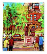 Downtown Montreal Mcgill University Streetscenes Fleece Blanket