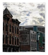 Downtown Nashville Fleece Blanket