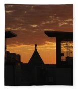Downtown Sunrise Fleece Blanket