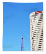Downtown Tampa Photography - Leaning Tower Of Sykes - Sharon Cummings Fleece Blanket