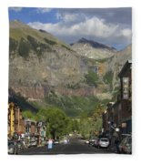 Downtown Telluride Colorado Fleece Blanket