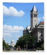 Downtown Washington Fleece Blanket