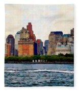 Downtown With Edward Fleece Blanket