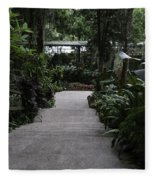 Downward Sloping Part Inside The National Orchid Garden In Singapore Fleece Blanket